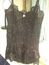 Lily of France Black Lace Slip/Nighty S
