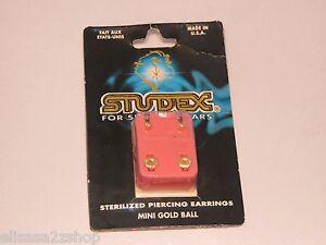 Studex sensitive ears earring piecing earrings mini gold ball sterilized 493220