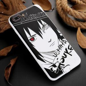 For iPhone 7 / 8 Plus Naruto Uchiha Sasuke Anime Manga Cartoon New 3D Case Cover