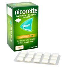Nicorette FruitFusion 2mg Gum - 105 pieces  (Genuine)