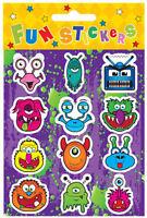 6 Monster Sticker Laken - Pinata Spielzeug Beute/Partytüten Füllung Für Kinder