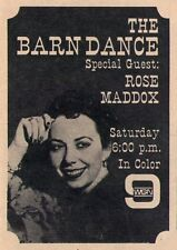 1965 Tv Ad~ROSE MADDOX Special Guest THE BARN DANCE on WGN in CHICAGO,ILLINOIS