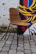 Rattan-Stuhl Korbstuhl/wicker chair Drahtstuhl 50s Gian Franco Legler