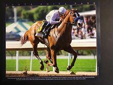 JUSTIFY Photo Santa Anita Race Track  2018 TRIPLE CROWN CHAMPION Horse Racing