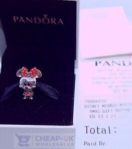 Pandora Genuine Disney Minnie Mouse 798880C02 Charm S925 ALE + FREE GIFT POUCH