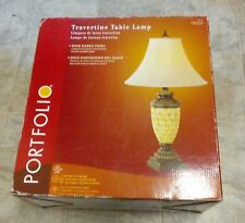 Portfolio Travertine Table Lamp Bone Marble Finish Item #78520