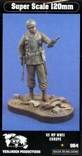 Verlinden 120mm 1:16 WWII Europe US MP holding Wine Bottle Resin Figure Kit #954