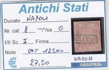ANTICHI STATI - NAPOLI - NA0011 - NR. 8 USATO - CATALOGO 125€