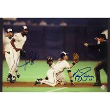 Joe Carter & Kelly Gruber Autographed Toronto Blue Jays 10X15 Photo