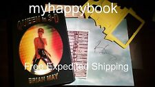 SIGNED Queen in 3D book set autographed by Brian May, with event photos, new