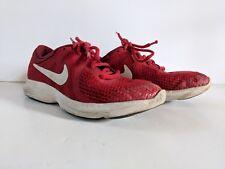 Nike 24 Red White Girls Boys Shoes Sz 4 Y Walking Running Sneakers