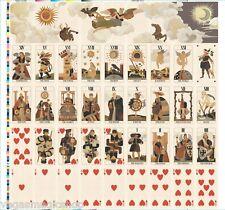 BRuT Tarot Deck Uncut Sheets Pair (2) Playing Cards uusi Custom Art Limited Ed.