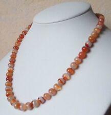 Edelsteinkette Rot Achat Collier 7 - 8 mm Perlen  42cm Halskette