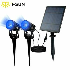 Solar Power LED Spot Lights Outdoor Garden Security Pathway Landscape Lamp US
