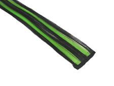 "CLIP-IN 12"" HAIR EXTENSION BLACK NEON GREEN STRIPE EMO SCENE PUNK RAVE HALLOWEEN"