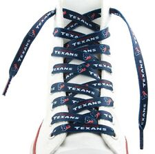 "Houston Texans Team Logo Colors 54"" Shoe Laces One Pair Lace Ups NFL"