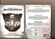 TRANSFORMERS /  2 - REVENGE OF FALLEN / 3 - DARK OF MOON DVD 3 MOVIE SET