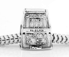 STERLING SILVER SLOT MACHINE 777 JACKPOT TRAVEL BEAD