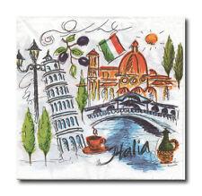 4 Servietten Napkins Tovaglioli Papierservietten ITALIA  (098)