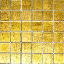 Glasmosaik uni gold Struktur Fliesenspiegel Küche Wand Art: 120-0786 | 10 Matten