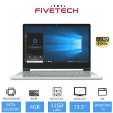 "FIVETECH 3X 13.3"" Laptop Intel Celeron N4000, 4GB RAM, 32GB eMMC Windows 10"