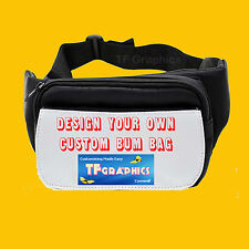 Design Your Own Custom Personalised Bum bag - Printed with your Design or Image