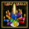 6 pcak Birthday Candle Gift Multi Color Musical Candle Lotus Rotating Play Music