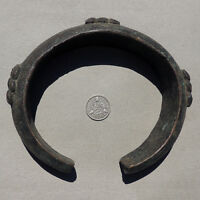 an old decorated lost wax cast bronze african bracelet from nigeria #83