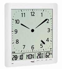 Horloge Murale Radio-Pilotée avec Climat Intérieur Tfa 60.4515.02 Analogue LCD