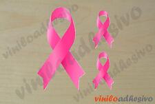 PEGATINA STICKER VINILO lazo rosa cancer de mama autocollant aufkleber adesivi
