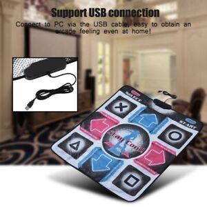 USB Non-Slip Single Dancing Step Dance Mat Pad for PC TV Video Household Game UK