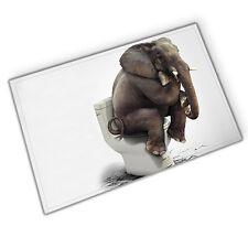 Funny Elephant Toilet Shower Door mat Bathroom Kitchen Anti-slip Mat Floor Rug