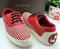 Gucci Authentic Vintage 90s GG Logo Woven Slip On Sneakers Men's 9.5 US 9.5/10