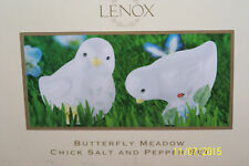 """NIB Lenox Butterfly Meadow """"Chick"""" Salt & Pepper Shakers PERFECT FOR EASTER!!"""