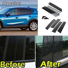 Carbon Fiber Style Pillar Posts Set Door Trim Cover Fit for Mazda Cx-5 2013-2016