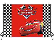 Racing Car McQueen Backdrop for Kids Birthday Party Cake Table Decor Background