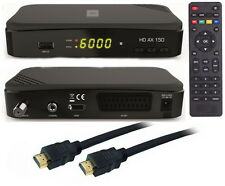 FULL HDTV HD Digital Sat Receiver OPTICUM AX 150  DVB-S2  USB 2.0  HDMI Kabel