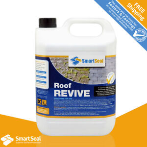 Roof Tile Moss Killer & Remover, Fast Acting, Easy Application,  Concentrated 5L