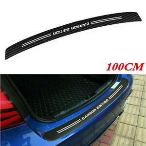 4D Car Carbon Fiber Look Trunk Bumper Sill Anti Scratch Scuff Tail Lip Sticker