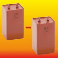 10 uF 750 V MATCHED RUSSIAN PAPER IN OIL PIO HIGH VOLTAGE CAPACITORS MBGT МБГТ