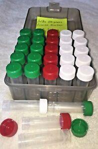 25 Blackhorn 209 Black Powder Compatible-Short 5ML Tubes w/ UV Block Carry Case
