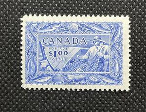1951 Canada Stamp Fisheries SC#302 $1 Mint OG / LH*