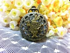 Alice in wonderland rabbit pocket watch necklace,vintage steampunk pocket watch.