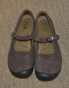 Keen Women's 9 Brown Leather Mary Jane Walking Shoes