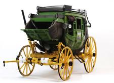 Brand New 1/16 Franklin Mint 1886 Wells Fargo Overland Stagecoach Diecast Model