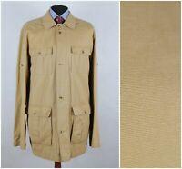 Mens COMMANDER Size UK 48L XXL 2XL Long Beige Field Jacket Coat