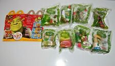 Complete Set of 8 2007 Shrek The Third Holiday McDonald's Happy Meal Toys Sealed