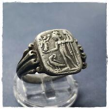 * Jupiter * Ancient Legionar Silver Roman ring ! 9,77g