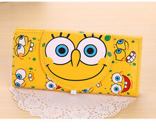 SpongeBob Purse Anime Cosplay Wallet SpongeBob Long Yellow Clutch Button Wallet