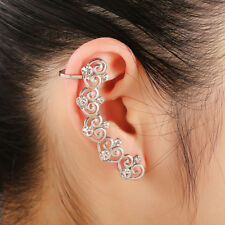 Gold/Silver Punk Gothic Crystal Right Ear Cuff Studs Earring Single Ear Jewelry